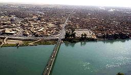 Floden Tigris vid Mosul