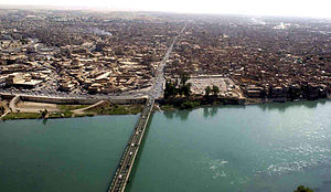 Tigris River and bridge in Mosul