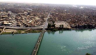 Munir Bashir - Mosul with its Tigris bridge