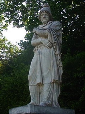 Radamisto (Handel) - Statue of Tiridates I of Armenia in the park of the Palace of Versailles