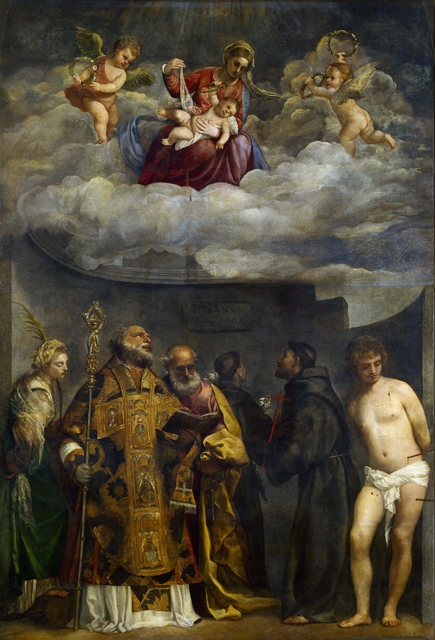 Titian madonna of frari vatican