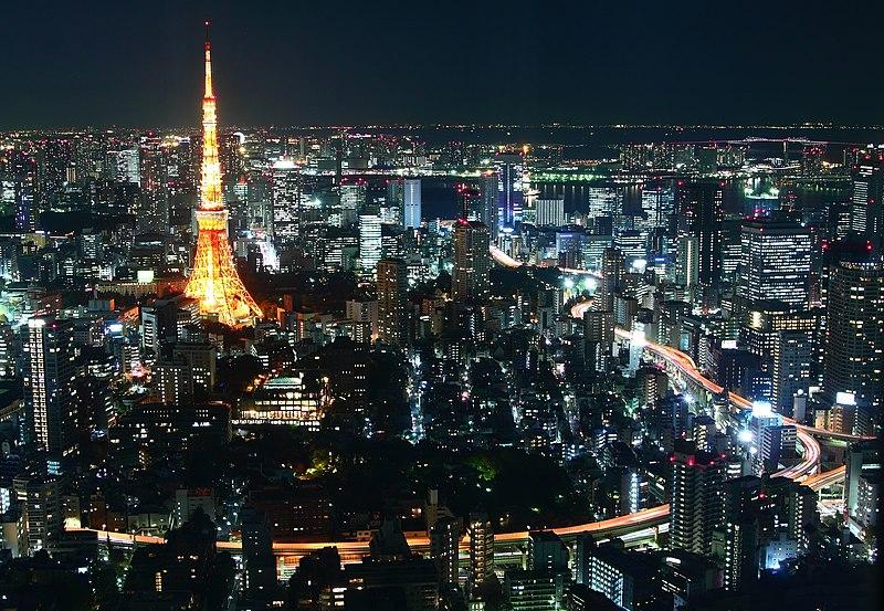 Kota Tokyo di malam hari. Foto: wikipedia