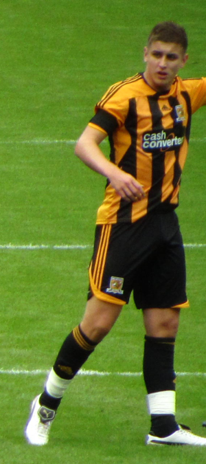 Tom Cairney - Cairney in a match for Hull City.
