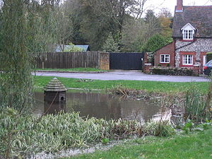 North Waltham, Hampshire - Image: Too cold for the ducks on this autumn day geograph.org.uk 75099