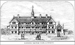 Toowoomba Grammar School - Toowoomba Grammar School, sketch prior to construction, 1875