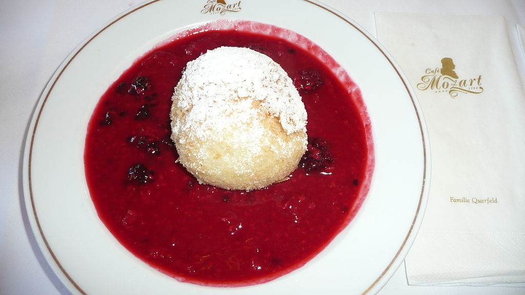 Topfenknödel like this you will find in Bavarian or Austrian Cafe's. By wikimedia