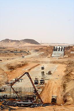 Toshka syphon construction site