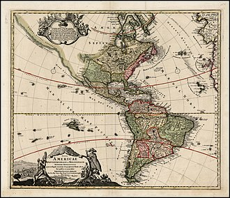 João da Gama - The Americas in 1720 by the same Johann Baptiste Homann, with the same northern land Esonis incognitae sighted by João da Gama