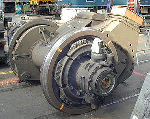 Driving wheel - Traction motor for a German locomotive