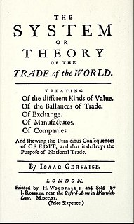 <i>The System or Theory of the Trade of the World</i>