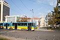 Tram in Sofia near Russian monument 045.jpg