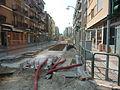 Tram mestre translohr lavori in viale san marco.JPG