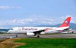 TransAsia Airways Airbus A320-233 B-22318 Departing from Taipei Songshan Airport 20151003e.jpg