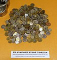 Transportation tokens - San Francisco Cable Car Museum - San Francisco, CA - DSC04022.jpg