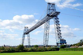 Newport Transporter Bridge Historic bridge across the Usk in Wales, opened in 1906