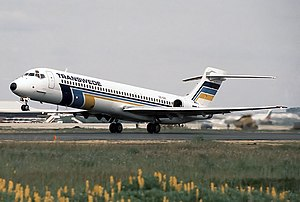 Transwede Airways - McDonnell Douglas MD-87 at Faro Airport