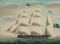 Tremastade barken Actif från Göteborg. Petrus Cornelis Weyt 1841. S 5290.tif