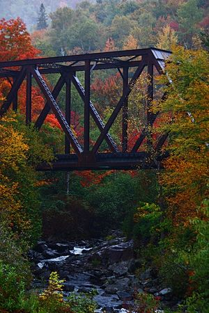 "Northeast Kingdom - The ""Iron Bridge"" in Brighton, just north of the village of Island Pond"