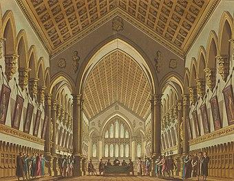 File:Tribunale del Podestà - Set design for 'La Gazza ladra' by Gioacchino Rossini, 1817 (cropped).jpg (Quelle: Wikimedia)