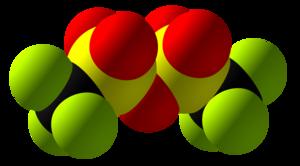 Trifluoromethanesulfonic anhydride - Image: Trifluoromethanesulf onic anhydride Space Fill