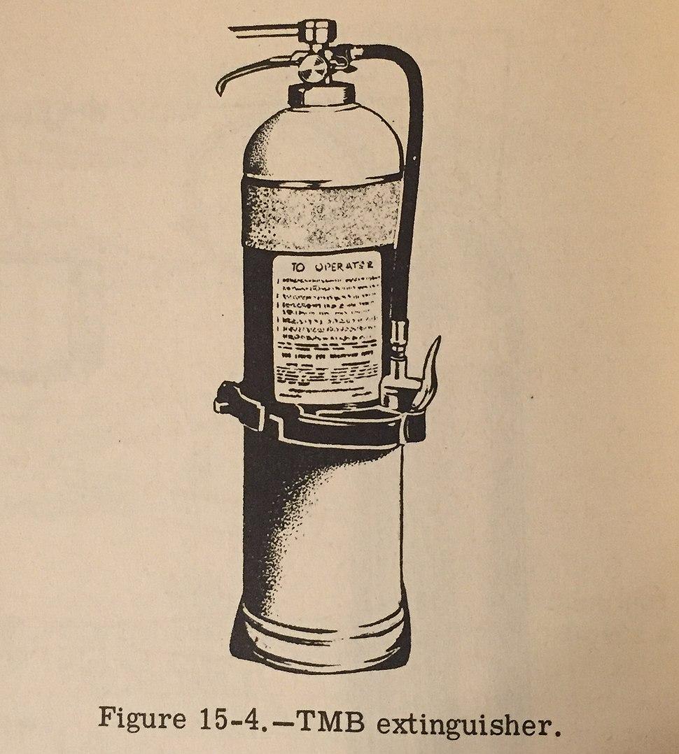 Trimethoxyboroxine (TMB) Fire Extinguisher, circa 1967