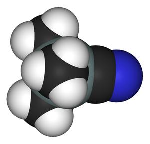 Trimethylsilyl cyanide - Image: Trimethylsilyl cyanide 3D vd W