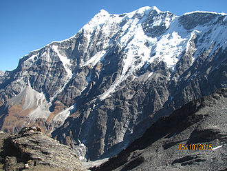 Trisul - Trishul seen from Junargali
