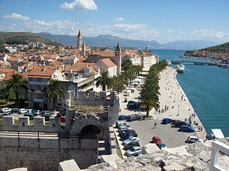 Historic centre of Trogir has been included in the UNESCO list of World Heritage Site since 1997 TrogirView.jpg