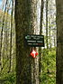 Hiking trail signage