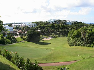 Tucker's Town, Bermuda - A golf course in Tucker's Town, surrounded by houses