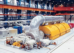 Energy technology - A steam turbine.