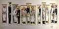 Twelve doctors standing in test tubes. Colour lithograph by Wellcome V0036166.jpg