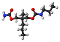 Tybamate molecule ball.png