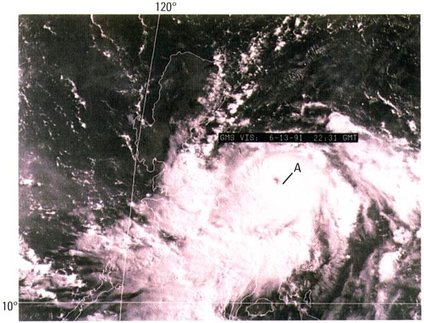 Typhoon Yunya 1991 on June 13