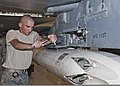 U.S. Air Force Airman 1st Class Steven Pilcher, with the 363rd Training Squadron, trains in the removal and installation of an LAU-106 missile launcher at Sheppard Air Force Base, Texas, June 23, 2011 110623-F-NS900-007.jpg