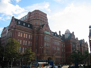 University of Manchester Institute of Science and Technology -  Sackville Street Building (formerly UMIST Main Building) from Aytoun Street / Whitworth Street