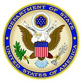 Escudo del Departamento de Estado de los Estados Unidos.
