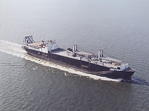 USNS Fred W. Stockham sailing to its naming in 2001.