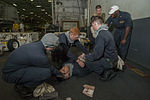 USS Carl Vinson general quarters drill 141205-N-TP834-055.jpg
