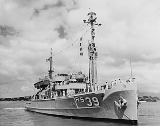 USS Conserver (ARS-39) - Image: USS Conserver (ARS 39) on 21 August 1958 (NH 96914)