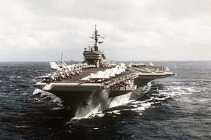 USS Constellation (CV-64) underway bow view.jpg
