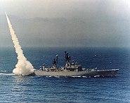 USS Dale (DLG-19) launching a RIM-2 Terrier in April 1964 (K-29715)