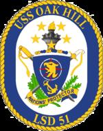 Crest of the USS Oak Hill