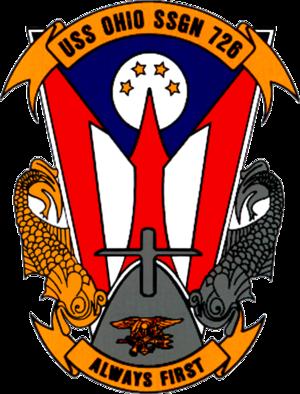 USS Ohio (SSGN-726) - Image: USS Ohio SSBN 726 Crest