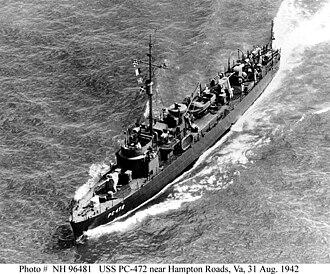 USS PC-472 - Image: USS PC 472
