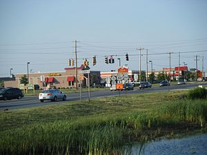 U.S. Route 301 - US 301 in Middletown at northern terminus of concurrency with DE15 and DE299