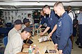 US Navy 030623-N-8774S-002 Retired professional Major League Baseball players, Fred Lynn, Boston Red Sox, Craig Nettles, New York Yankees and Paul Blair, Baltimore Orioles sign autographs for USS Harry S. Truman (CVN 75).jpg