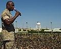 US Navy 030925-M-4330P-004 Sgt Major John Estrada, Sgt Major of the Marine Corps, addresses the Marines of Marine Corps Air Station, Yuma, Arizona.jpg