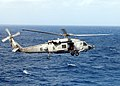 US Navy 060112-N-9162R-016 A HH-60H Seahawk helicopter takes part in Anti-Submarine Warfare exercises off the coast of Hawaii from the flight deck aboard the Nimitz-class aircraft carrier USS Ronald Reagan (CVN 76).jpg