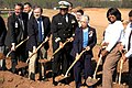 US Navy 070423-N-6512M-002 Rear Adm. Victor Guillory, Mrs. Alma Gravely, family members and Prince William County Public School officials break ground for the Admiral Samuel L. Gravely Jr. Elementary School.jpg